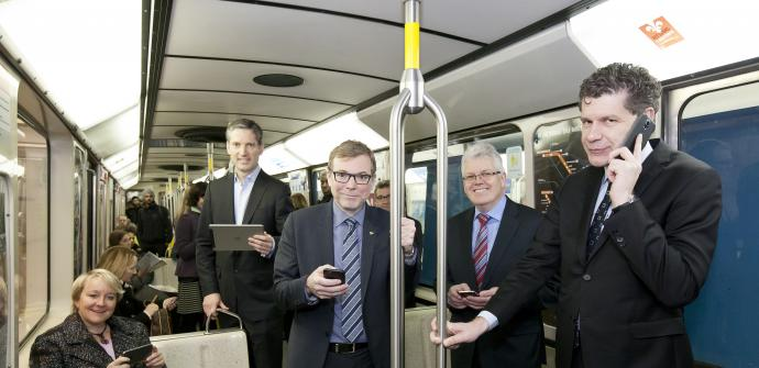 Mise en service du réseau sans fil sur un tronçon du métro de Montréal
