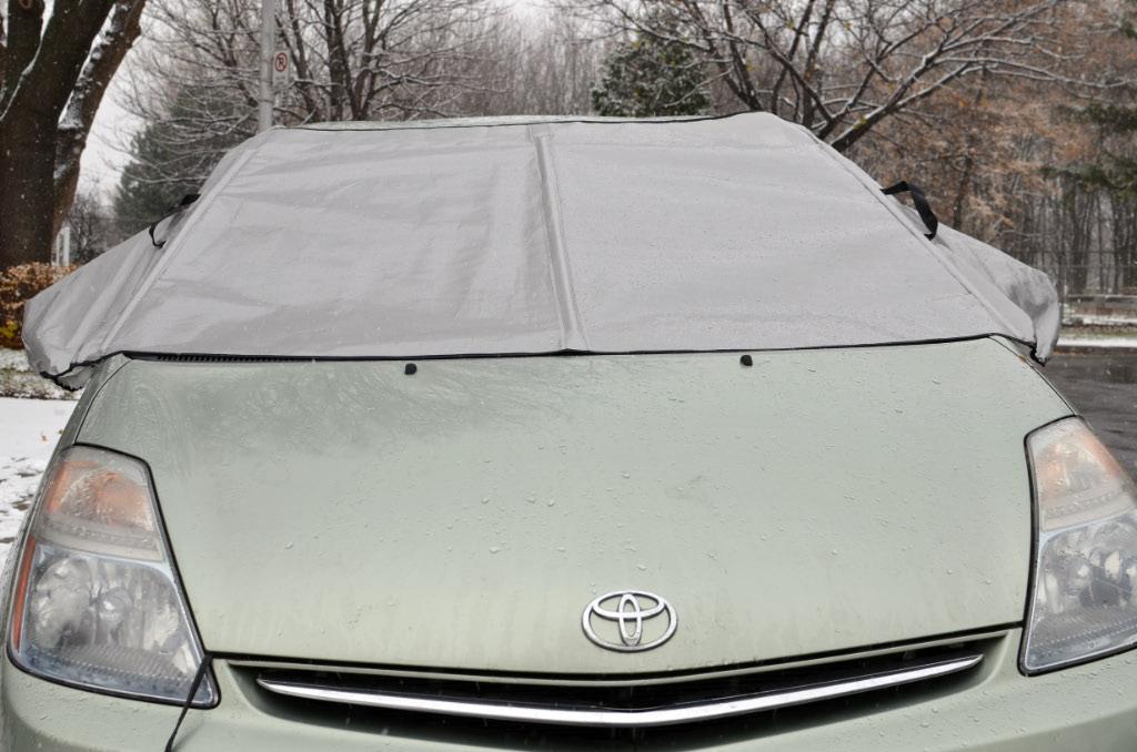 Housse / bâche pour pare-brise de voiture Minigarage - protection contre la pluie verglaçante et le verglas