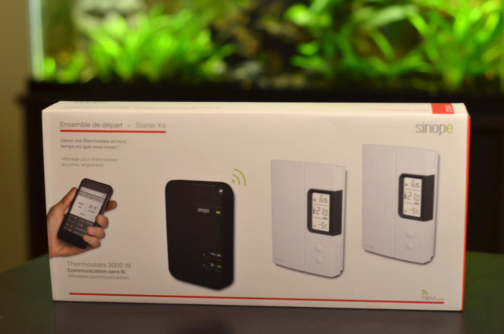 Ensemble de départ de thermostats électroniques programmables sans fil WEB Sinopé
