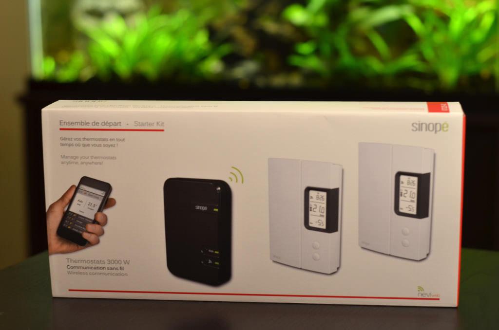 Essai des thermostats sans fil Sinopé accessibles par le WEB