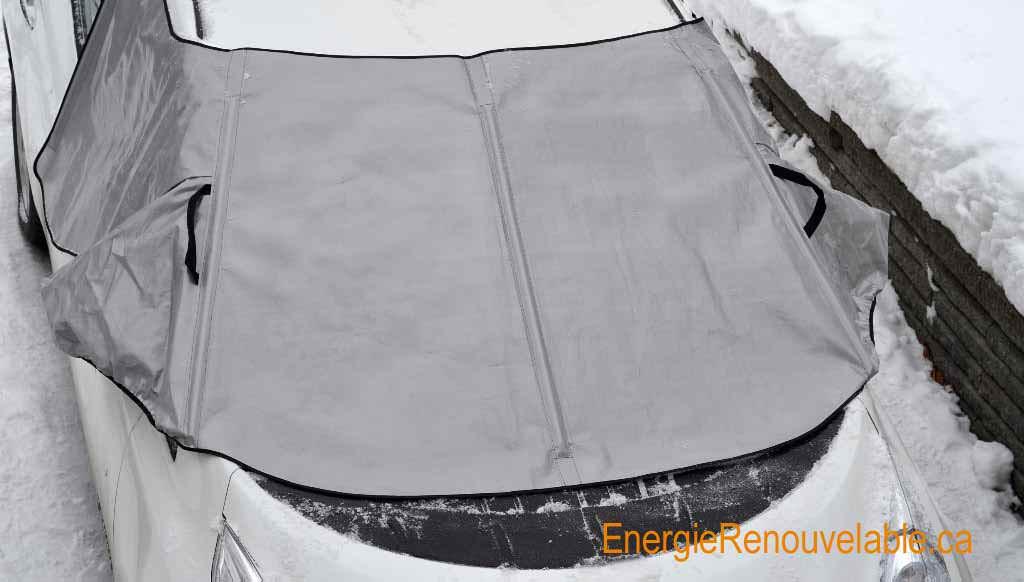 Minigarage - housse / bâche pour pare-brise de voiture lors d'épisode de pluie verglaçante / verglas