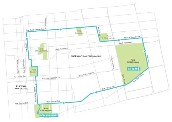 Parcours Vélo sous Zéro 2015