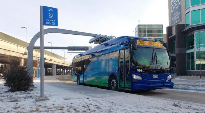 La compagnie canadienne New Flyer a développé un autobus électrique biberonné particulièrement intéressant