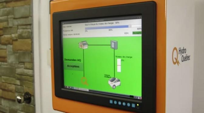 Le projet-pilote d'Hydro-Québec visant à tester l'utilisation de l'énergie stockée dans les batteries des voitures électriques lorsqu'elles sont à la maison