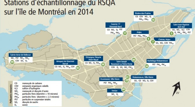 Bilan du Réseau de surveillance de la qualité de l'air – La bonne qualité de l'air à Montréal se maintient