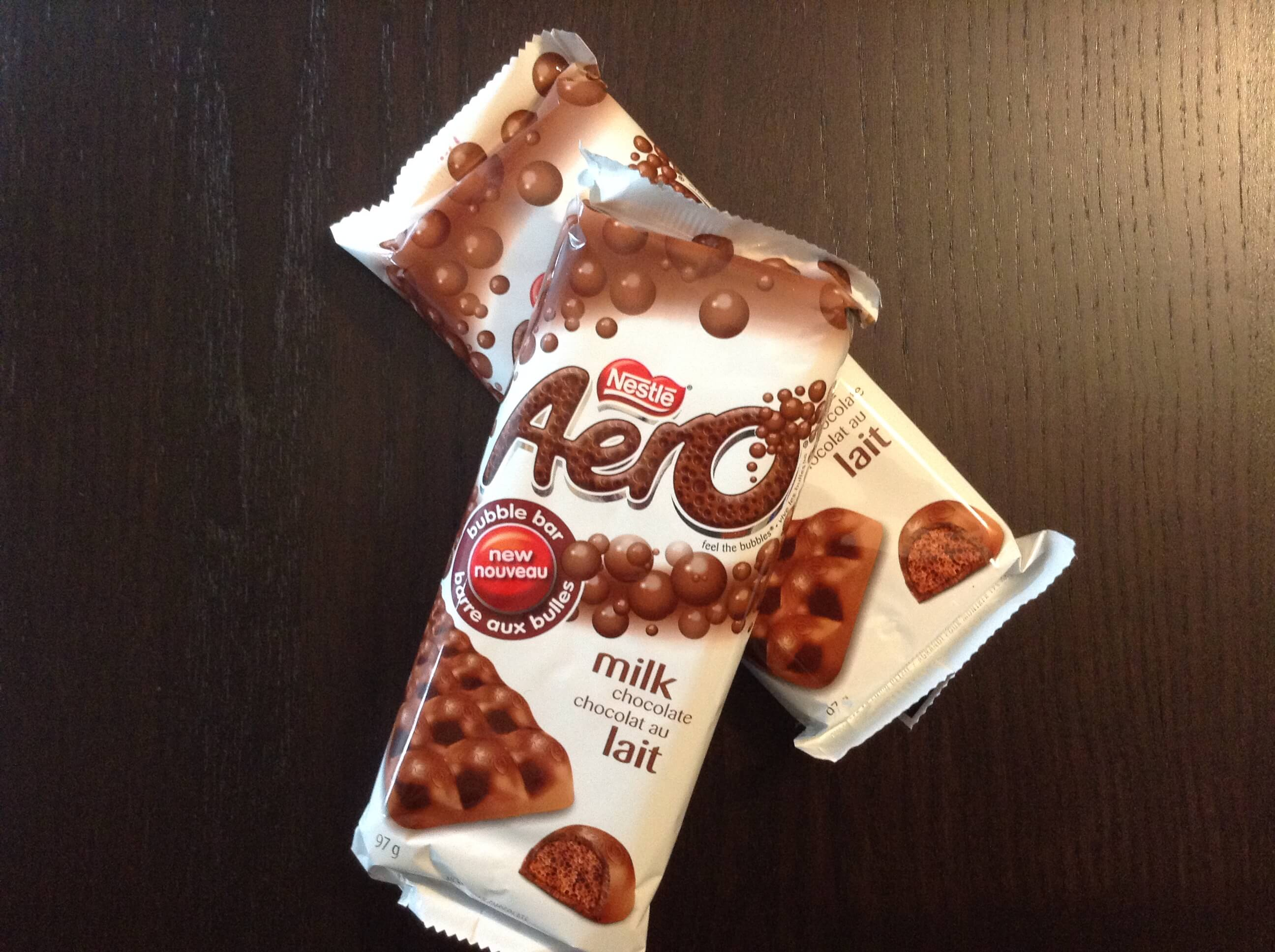 Tablettes de chocolat Nestlé Aéro