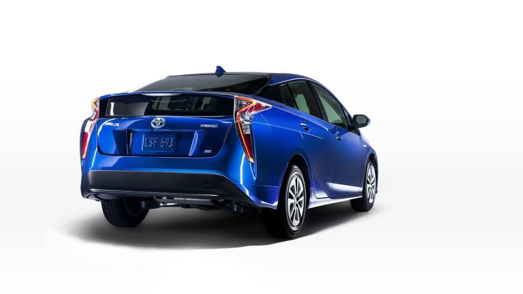 Vue arriere de la Toyota Prius 2016