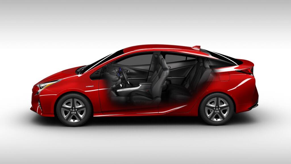 Vue coté Toyota Prius 2016