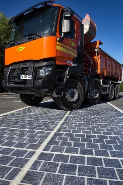 Résistance route solaire Wattway de Colas
