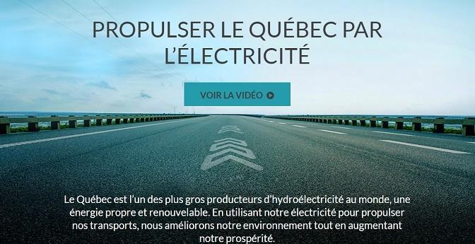 Propulser le Québec par l'électricité – Le gouvernement du Québec dévoile son nouveau plan d'action en électrification des transports 2015-2020