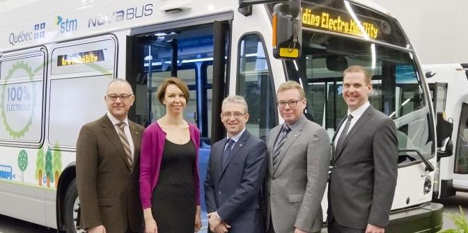 Cité Mobilité – Le premier bus québécois 100 % électrique se dévoile