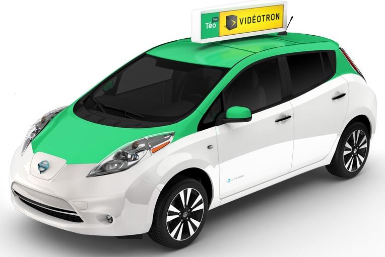 Taxi electrique Nissan LEAF