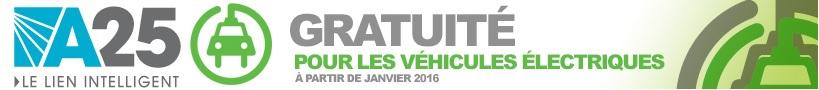 Pont a peage autoute 25 gratuit voiture electrique