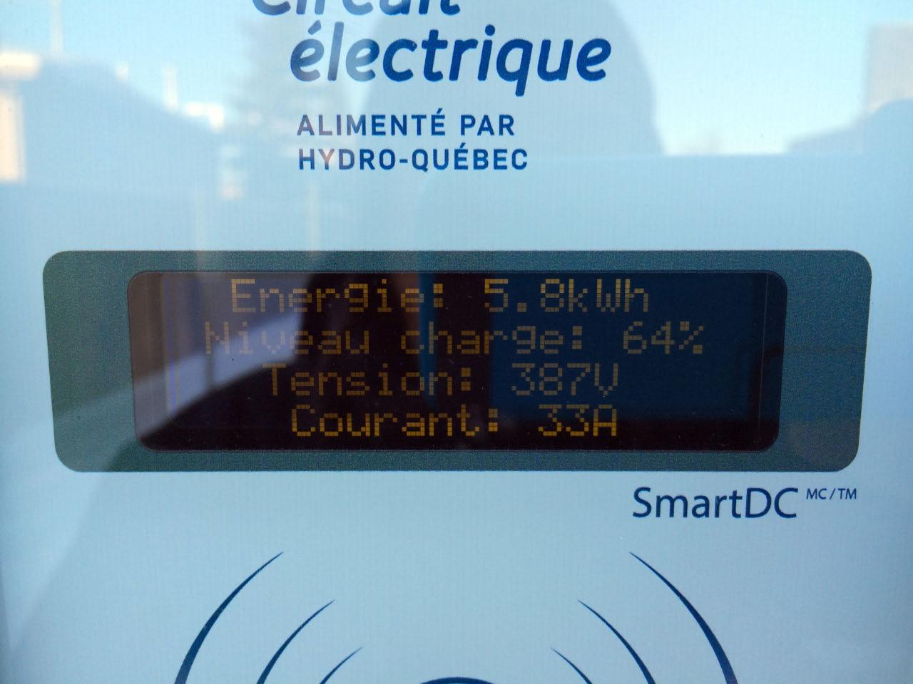 Vitesse de recharge borne rapide BRCC Nissan LEAF hiver