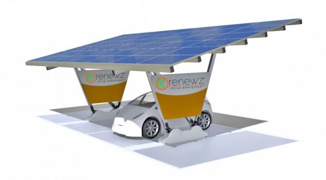 carport solaire pour voiture electrique