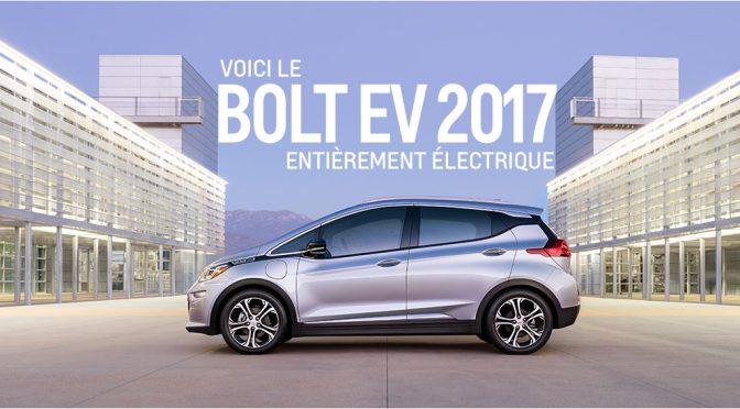 Voiture electrique Chevrolet Bolt