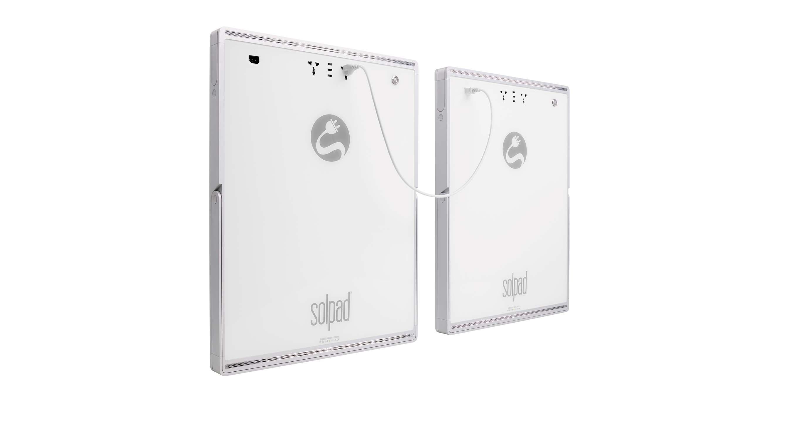 Panneau solaire Solpad branché en série