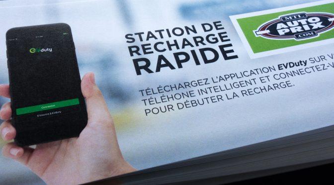 Montréal Auto Prix inaugure une station de recharge rapide pour véhicules électriques à Montréal