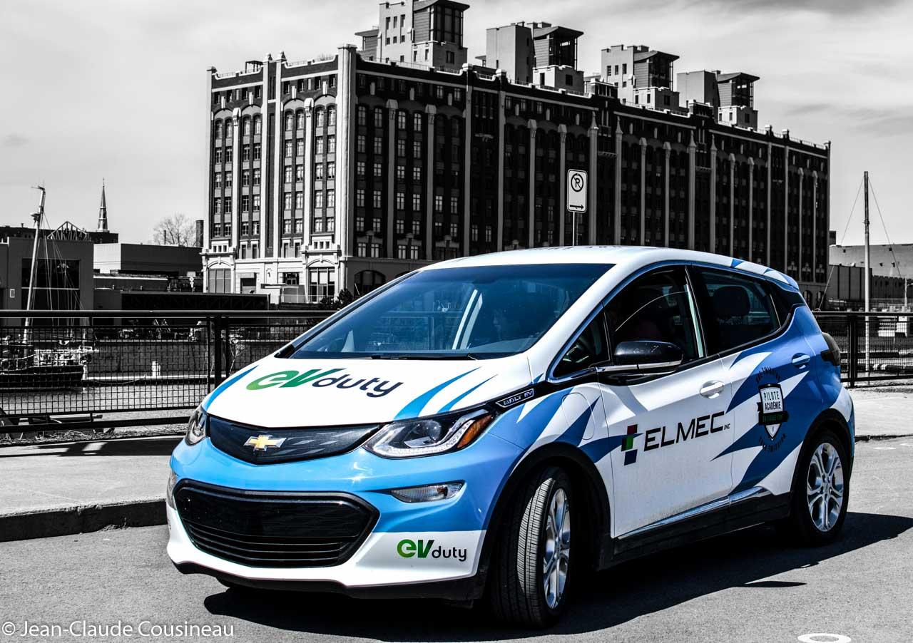 La Chevrolet Bolt de la compagnie Elmec, fabricant de la populaire borne de recharge EVDuty