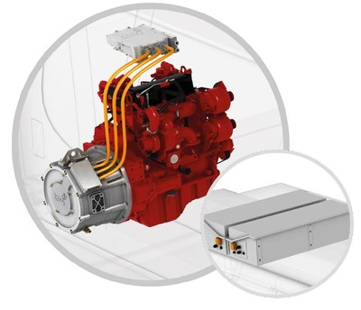Moteur hybride rechargeable tm4 cummins