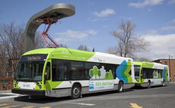 Québec et la Société de transport de Montréal annoncent la mise en service d'autobus 100 % électriques, dans le cadre de Cité Mobilité