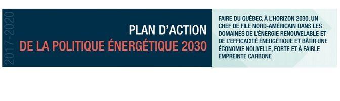 Plan d'action de la politique énergétique 2030