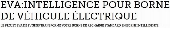 Entete financement EVA EV sens borne de recharge intelligente