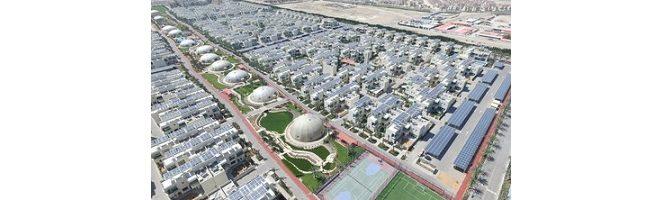 Les panneaux solaires photovoltaïques de Trina sont en fonction dans la Ville verte de Dubaï