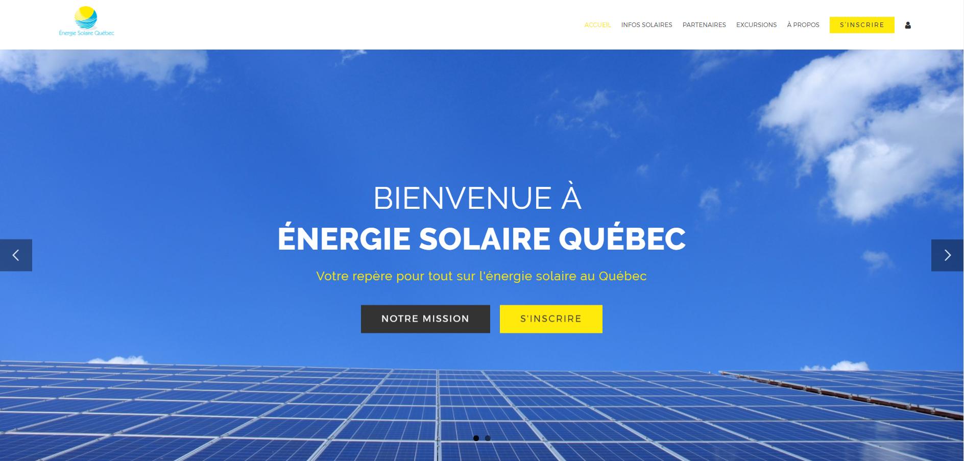 Site WEB energie solaire Quebec