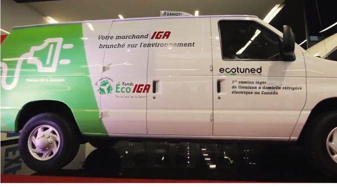 Le Fonds Éco IGA lance son 10e anniversaire en grand avec le premier camion de livraison à domicile réfrigéré converti à l'électricité au Canada