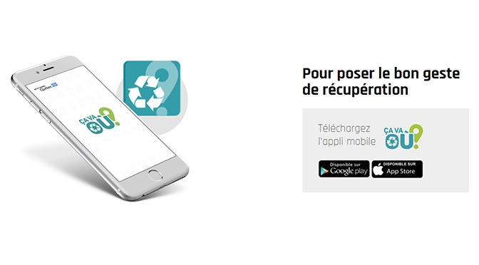 Application Ca va ou application lieu recyclage