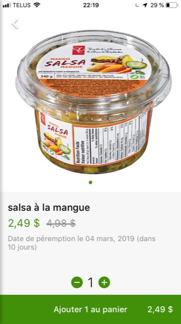 Flashfood Maxi et Cie Salsa a la mangue