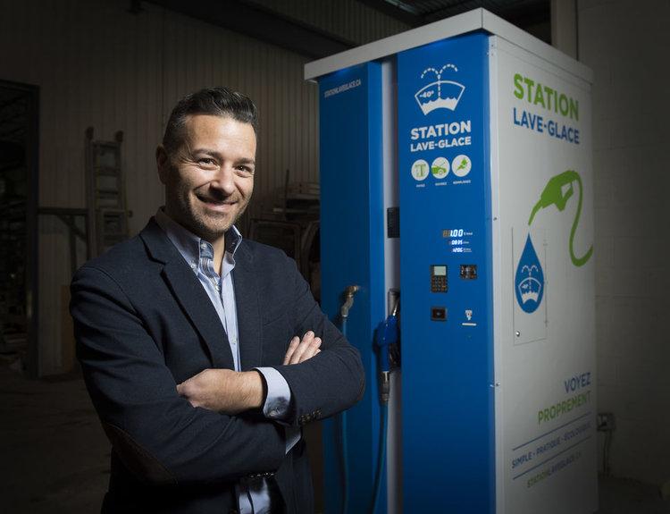 Pierre Neron - fondateur station lave-glace en vrac pour station-service