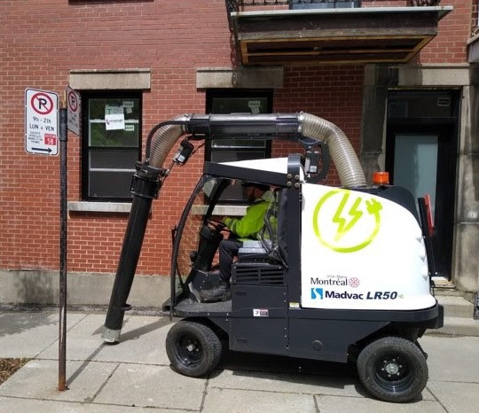 Institut du véhicule innovant aspirteur de rue électrique
