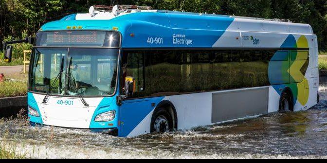 La STM continue de mettre à l'épreuve son bus électrique à grande autonomie