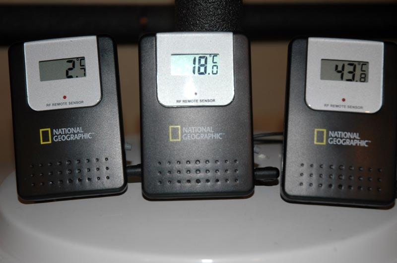 Sonde température sortie récupérateur chaleur eau grise drainage Renewability Power-Pipe