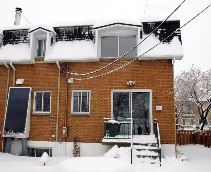 Solar Water heating - Solar collector under snow