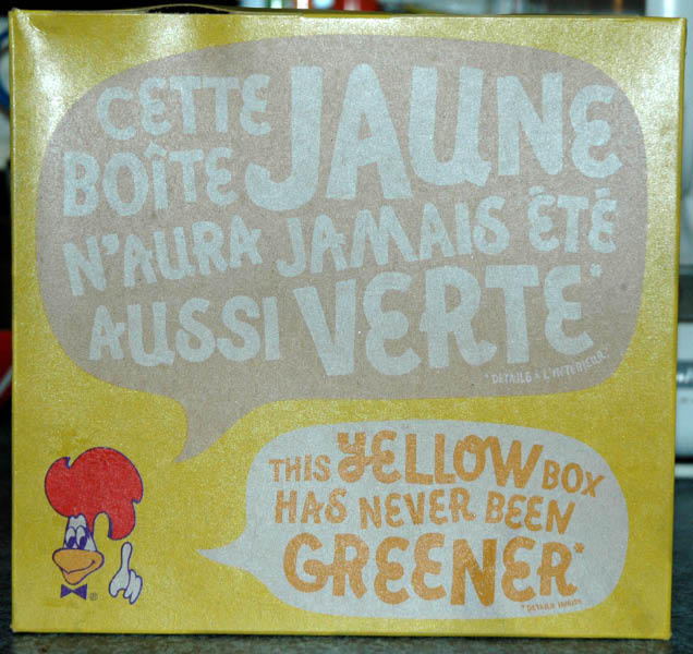 Boite carton recycle rotisserie St-Hubert