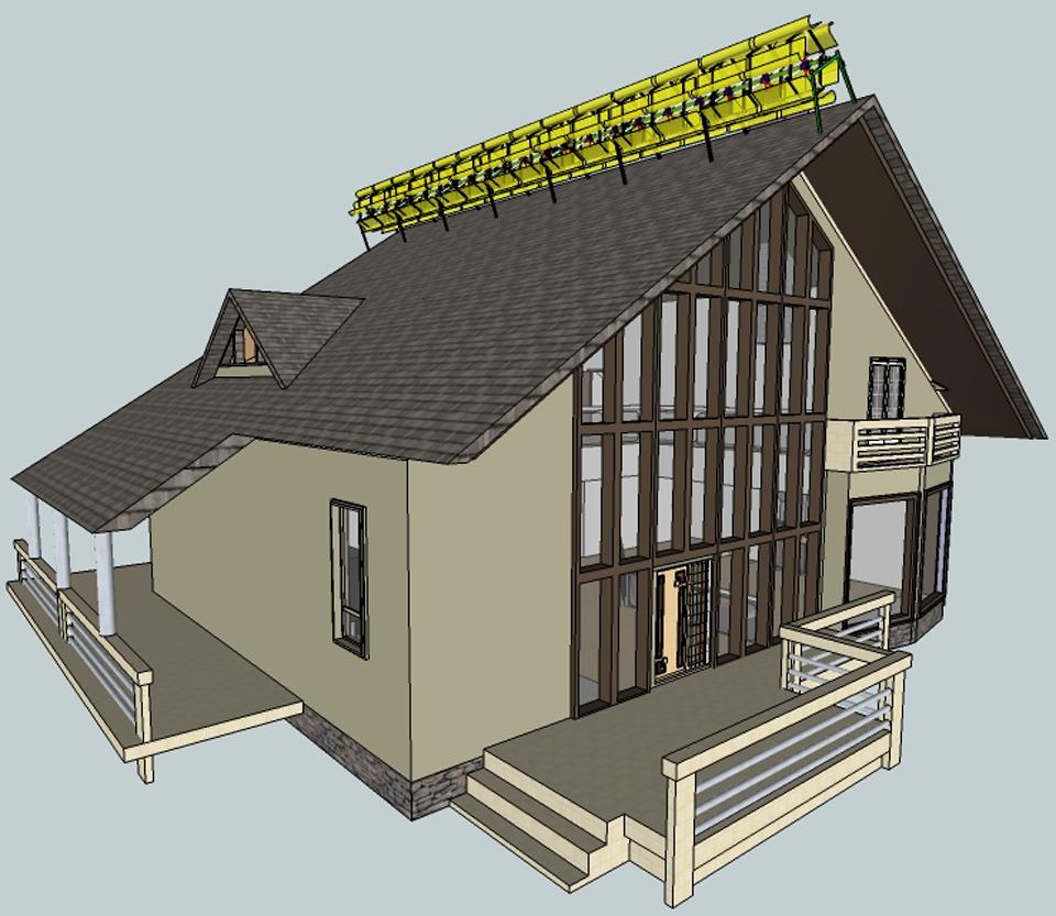 Schéma éolienne de toit urbaine Total Green Elegante
