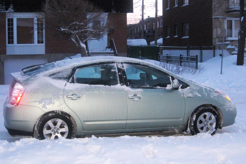 Toyota Prius hiver Québec
