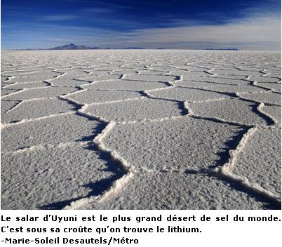 Desert Lithium Bolivie