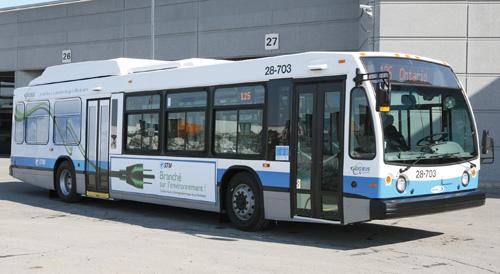 Autobus hybrides STM Montréal - économie 30%