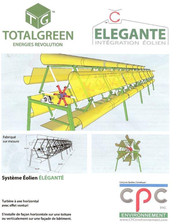 Dépliant éolienne de toit urbaine Total Green Elegante